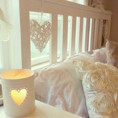 heart themed bed ♡ ♡ ♡