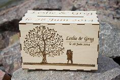 Wedding Wooden Card BoxRustic wedding boxWedding wishes