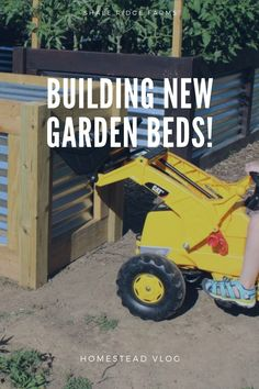 We set out to finish our okra bed by affixing the sides and filling it with old sticks and foliage! #Homestead #Vlog #GardenBeds #Gardening #Organic