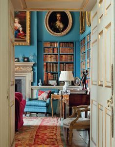 The Library, Linley Hall, Shropshire.