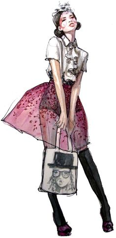 Glittering Fashion Illustrations by Katie Rodgers - My Modern Metropolis