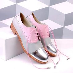 ABO beauties pink gray silver wingtips