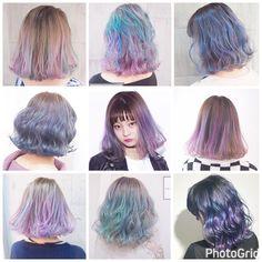Pink Purple Hair, Green Hair, Mommy Hairstyles, Pretty Hairstyles, Ombre Hair Color, Cool Hair Color, Blonde Hair Paint, Underdye Hair, Pelo Multicolor