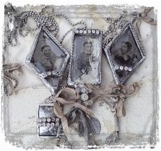 Love this page...the pictures, the lace, the tin...beautiful!