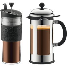 Bodum Chambord Locking Lid French Press Coffee Maker with Bonus Travel Press