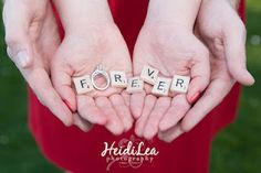 'forever' engagement shot.