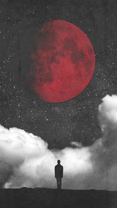 Alex and the moon Moon And Stars Wallpaper, Star Wallpaper, Scenery Wallpaper, Iphone Wallpapers, Moon Sketches, Blood Moon Eclipse, Cloud Tattoo, Normal Wallpaper, Silhouette Painting