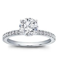RE-PIN if you would wear this CLASSIC PAVE ENGAGEMENT RING!