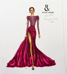 Ralph & Russo Fashion Illustration