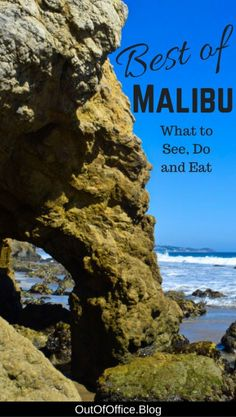 The Best of Malibu's ocean side cliffs, spectacular beaches, incredible hiking, surfing, horseback riding, boutique shopping, wine tasting... there's so much to love about Malibu California! #Malibu #California #Travel
