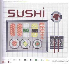 Cross stitch sushi