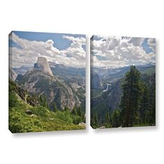 Yosemite-Half Dome, Vernal Falls and Nevada Falls by Dan Wilson 2 Piece Photographic Print on Gallery-Wrapped Canvas Set