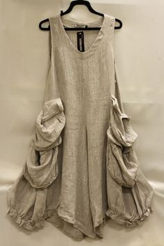 Transparente designs lagenlook linen sleeveless vestover tunic dress pocket osfa