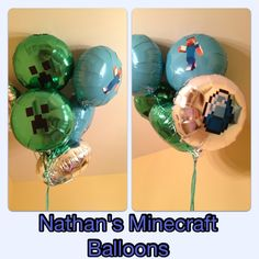 Minecraft Party balloons I made myself ;)