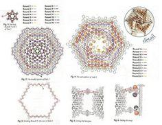 Браслеты из шестиугольников / Браслеты / Biserok.org