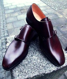 double monk straps - Crockett and Jones made exclusively for Rose and Born Sharp Dressed Man, Well Dressed Men, Moda Fashion, Fashion Shoes, Men Dress, Dress Shoes, Gentleman Shoes, Christopher Kane, Men S Shoes