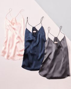 Now it seems the latest pattern to actually be wakened is the layered camis outfit look. Casual Outfits, Cute Outfits, Fashion Outfits, Womens Fashion, Brooks Brothers, Pajamas Women, Sleepwear Women, Silk Charmeuse, Lounge Wear