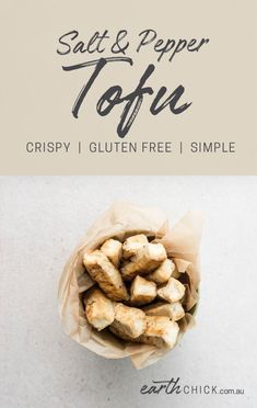 This is a super easy and delicious way to enjoy tofu. Serve it up with a yummy vegan dipping sauce or as the protein in your favourite Buddha bowl. Vegetarian Salad Recipes, Best Vegan Recipes, Vegan Dinner Recipes, Tofu Recipes, Vegan Dinners, Whole Food Recipes, Snack Recipes, Appetizer Recipes, Healthy Recipes