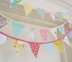 Your place to buy and sell all things handmade Fabric Bunting, Bunting Garland, Buntings, Love Sewing, Upcycled Vintage, Vintage Fabrics, Crafts To Do, Vintage Love, Party Time