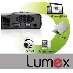 Lumex projectors are the best breed of LED projectors that offer connections to today's most popular devices