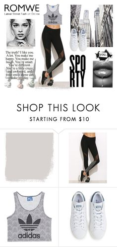 """Contest (romwe)! - Win this Black Leggings !"" by tarparamu on Polyvore featuring moda, adidas Originals e adidas"