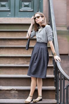 Real Life Style #29 // Gingham & Pearls