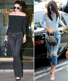 How These Celebrities Wear Summer Fashion Pieces in New York and Los Angeles - Off-The-Shoulder Tops from InStyle.com