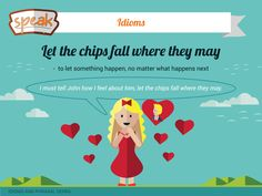 Improve your english and learn new idioms. ;)  Let the chips fall where they may - to let something happen, no matter what happens next (будь що буде; нехай карти ляжуть так, як мають лягти;  пустити все за течією). I must tell John how I feel about him, let the chips fall where they may.