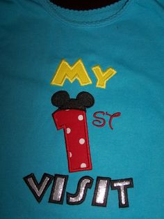 My First Disney Visit Tshirt by FROGgyStitches on Etsy, $20.00