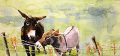 Artists Of Texas Contemporary Paintings and Art - Donkey Daze