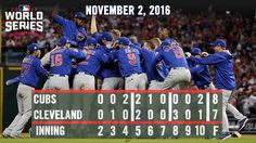 Cubs win the 2016 World Series
