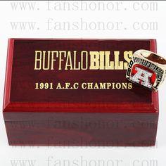 Custom AFC 1991 Buffalo Bills American Football Championship Ring - Football
