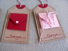 Kraft Mini Envelope Note Card Valentine Gift di PaperLaneCreations