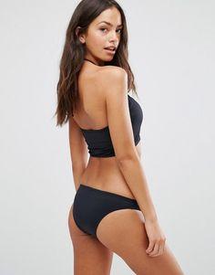 Coco Rave Crop Bikini Top - Black