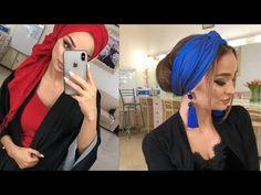 طرق سهلة لعمل حجاب توربان💕 لفات حجاب توربان💕 سهلة و متنوعة✔️ و موديلات كثيرة و حلوة✔️ لا يفوتكم - YouTube Turban Tutorial, Hijab Style Tutorial, Turban Hijab, Head Scarf Styles, Turban Style, Beautiful Hijab, African Design, Scarf Hairstyles, Hijab Styles