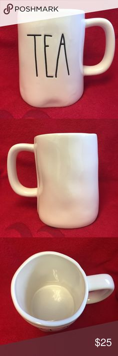 Rae Dunn Tea Mug Drink your Tea in this adorable TEA mug! Mug is new and have never been used. The mug pictured is the mug that will be shipped! I ship wrapped in bubble wrap secure in a box, but not responsible for USPS handling. rae dunn Accessories