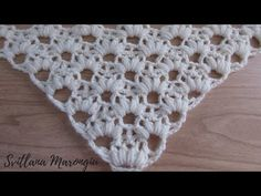 Crochet Lace Scarf, Crochet Crocodile Stitch, Crochet Stitches Free, Crochet Shawls And Wraps, Crochet Collar, Crochet Borders, Crochet Diagram, Crochet Baby, Free Crochet