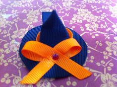 Witch hat hair clip by Babydobows on Etsy, $1.00
