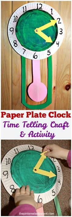 Paper Plate Clock - a time telling craft & activity | It's time for the kids to learn how to read a clock!