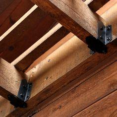 Diy Pergola, Pergola Kits, Garage Pergola, Pergola Curtains, Pergola Shade, Pergola Plans, Pergola Ideas, Beam Hangers, Carpenter Bee Trap