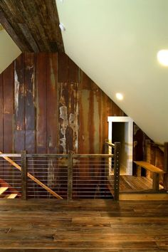 Reclaimed Metal Roofing Panels - Recycled Vintage - Rusty Barn Tin love this rustic look
