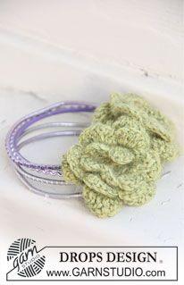 "Fleur DROPS au crochet en ""Alpaca"" et ""Glitter"". ~ DROPS Design"