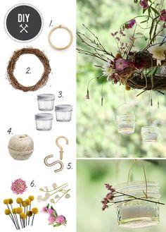 craft your own outdoor chandelier - definitely!