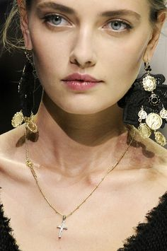Alina Baikova at Dolce & Gabbana...Lovely soft makup with the lightest touch of pink on the lips