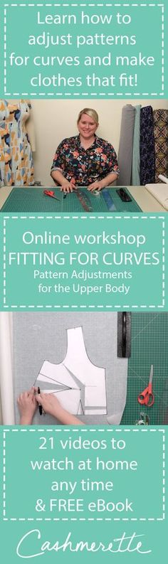 """""""Fitting for Curves: Pattern Adjustments for the Upper Body"""" is a new online workshop from Cashmerette, which teaches you how to make your clothes fit!"""
