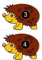 Compter le nombre de piquants sur le dos du hérisson
