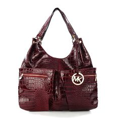 Michael Kors Embossed Large Red Hobo Outlet