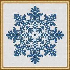 For sale is Large Snowflake Cross Stitch Pattern Floral Snowflake Monochrome Vintage Snowflake Counted Cross Stitch/Filet Crochet in PDF Format. This design is done for 1 color of your choice. Snow represents coldness and hardness in human nature, but the Simple Cross Stitch, Cross Stitch Charts, Cross Stitch Designs, Cross Stitch Patterns, Crochet Patterns, Cross Stitch Boarders, Filet Crochet, Crochet Cross, Mandala Crochet