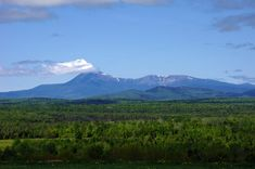Katahdin Woods & Waters Scenic Byway Gallery – Mount Katahdin Maine. View From Ash Hill near Patten Maine. (Photography: Thierry Bonneville)