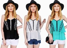 Sabrina Fresh Tops S-L Free Size (Black, White and Aqua Blue  Price: Peso 290.00  #aklan #onlineshop #beauty #everythingbeautiful #summerclothing #summer #funinthesun #vacation